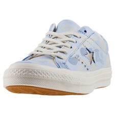 Converse One Star Ox Womens Pastel Blue Nubuck Trainers