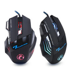 Professional Wired Gaming Mouse 7 Button 5500 DPI LED Optical USB Computer