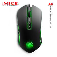 iMice Gaming Mouse Wired USB Game Mice 7 Button 3200DPI Left Right Hands