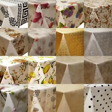Oilcloth Wax Tablecloth PVC Kitchen Garden Table Washable Square by the Metre
