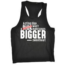 Funny Mens Vest - Acting Like A Dck - Open Back Muscle Novelty Tank Top Singlet