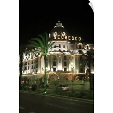 Wall Decal entitled Hotel Negresco at night Boulevard des Anglais, Nice, France,
