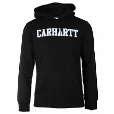 CARHARTT COLLEGE HOODED SWEATSHIRT MENS BLACK TOP