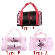 Girls School Gymnastic Bag Dance Ballet School Gym Kit Shoulder Hand Hold Barrel