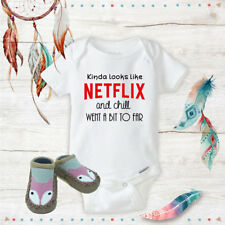 Netflix and Chill Baby Shower Fox Shoes Baby Shower Gift Baby Clothes
