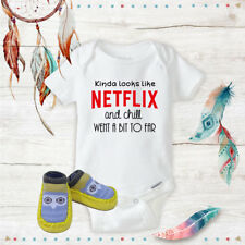 Netflix and Chill Onesie Yellow Owl shoes Baby Shower Best Baby Gift Idea