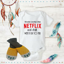 Netflix and Chill Onesie With Yellow Claws Baby Shower Best Baby Gift Idea