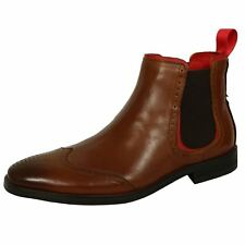 AZOR SHOES CAESAR MENS TAN LEATHER CHELSEA BOOTS