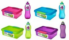 Sistema Plastic Kids School Sandwich Lunch Box with 460ml Bottle colors vary