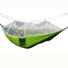 Double Outdoor 2Person Travel Camping Hammock Hanging Bed With Mosquito Net