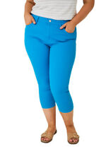 Q52 - Women's / Ladies Girly Plus Size Light Blue Cropped Jeans (18-20)