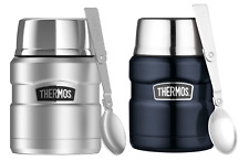 NEW Genuine Thermos Stainless Steel Vacuum Insulated Food Jar 470ml with Spoon!