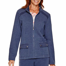 Alfred Dunner Mantella Hatteras Manica Lunga Zip-Front Giacca Misura 6P, 22W