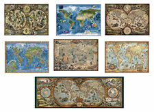 Puzzle Heye Rajko Zigic Weltkarte Hemisphere Map Pirate Vintage World 2000 6000
