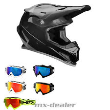 2019 Thor Mx Sector Shear Negro Gris Casco de Cross + HP7 Gafas Bmx Motocross