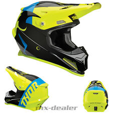 2019 Thor Mx Sector Shear Ácido Negro Amarillo Casco Cross Motocross