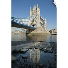 Wall Decal entitled Tower Bridge, the River Thames and the Tower of London