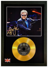 ELTON JOHN SIGNED PHOTOGRAPH GOLD CD DISC COLLECTABLE GIFT MEMORABILIA MARK1