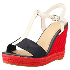 Tommy Hilfiger Iconic Elena Pop Color Wedge Mujeres Navy Red Blue Sandalias