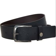 DIESEL NEW Belt 'Special Rags 4' Men`s 100% Cow Leather Black Belt made in ITALY