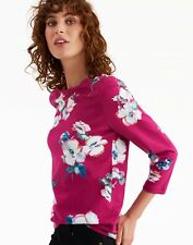 JOULES HARBOUR 3/4 SLEEVE TOP, T SHIRT,RUBY FLORAL, VARIOUS SIZES, NEW /TAGS