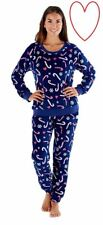 Girls Ladies Pyjamas Fleece Pjs Sleepwear Nightwear Christmas