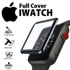 FULL CLEAR COVER TEMPERED GLASS SCREEN PROTECTER FOR APPLE WATCH IWATCH 38 42 MM