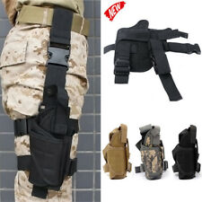 Tactical Pistol Gun Drop Leg Thigh Holster Pouch Bag Holder Pouch Adjustable NEW