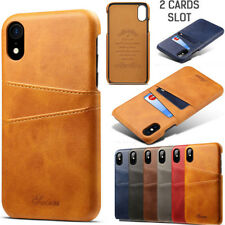 """For iPhone X XS Max 6.5"""" XR 6.1"""" Leather Wallet Credit Card Slot Back Case Cover"""