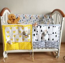 Hanging Bag Baby Toy Diaper Cot Storage Organizer Cotton Pocket Crib Bedding Set