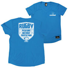 FB Womens Rugby Tee - Pleasure Without - V Neck Dry Fit Performance T-Shirt