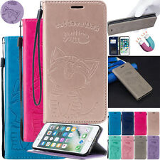 3D Emboss PU Leather Wallet Case Stand Cover For Apple iPhone 5 6s 7 8 XS Max XR