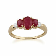 Gemondo 9ct Yellow Gold 1.12ct Ruby & Diamond Ring