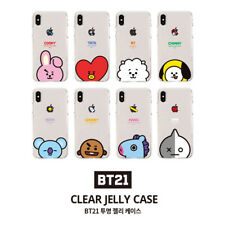 Official BT21 Clear Jelly Case Phone Cover Shockproof for iPhone Galaxy KPOP BTS