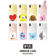 Official BT21 Mirror Case Phone Cover Shockproof for iPhone Galaxy KPOP STAR BTS