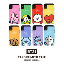 Official BT21 Card Bumper Case Phone Cover Shockproof for iPhone Galaxy KPOP BTS
