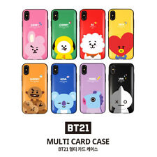Official BT21 Multi Card Case Phone Cover Shockproof for iPhone Galaxy KPOP BTS
