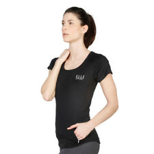 Womens Fitness T-shirt Elle Sport - ES1901 Black Training Jogging Top Dri-Activ