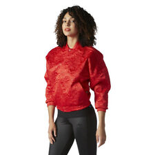Women's adidas Originals Tracktop Stamped All Over Floral Red Bomber Jacket