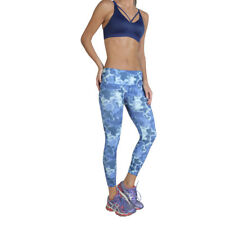 Womens Workout Tights Elle Sport - ES3445 Blue Fitness Gym Trousers Dri-Activ