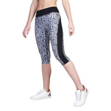 Womens Workout Capris Elle Sport - ES2313C Black Fitness Gym Trousers Dri-Activ