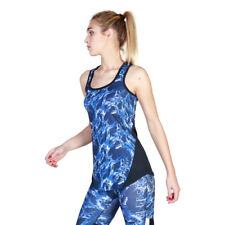 Womens Racebake Tank Elle Sport - ES2800P Blue Training Fitness Top Dri-Activ