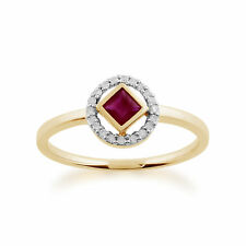 Gemondo 9ct Yellow Gold 0.32ct Ruby & Diamond Ring