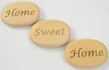 Personalised Large Wooden Pebbles Never Give Up, Live Your Life, Love, Beauty