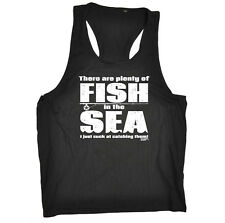 Fishing Mens Vest Funny Novelty Singlet Tank Top - There Are Plenty Of Fish In T
