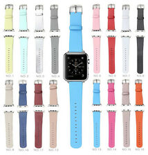 Microfiber PU Leather Band Straps for Apple Watch iWatch 38mm 42mm
