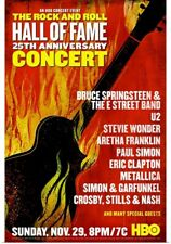 Poster Print Wall Art entitled The Rock and Roll Hall of Fame 25th Anniversary
