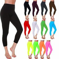 LMB One Size Seamless Capri Length Cropped Leggings - Variety of Colors