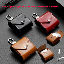 1 PCS Leather Case Cover Bag for Apple Airpods Wireless Bluetooth Headset New