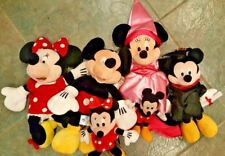 Lot of 10 Disney Collectible Mickey and Minnie Mouse Bean Bag Stuffed Plush